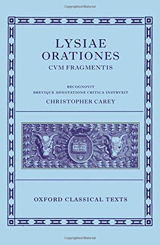 9780198140726: Lysiae Orationes cum Fragmentis (Oxford Classical Texts)