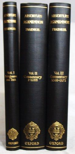 9780198141013: Agamemnon: 3 volumes