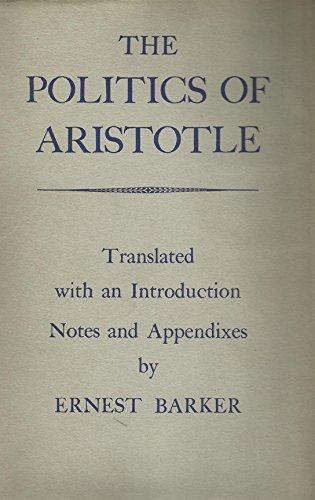 Politics of Aristotle: Aristotle/barker