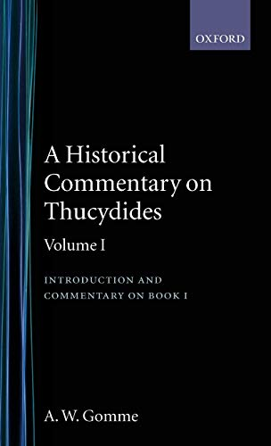 9780198141266: An Historical Commentary on Thucydides Volume 1. Introduction, and Commentary on Book I