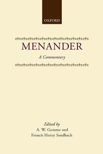 9780198141976: Menander: A Commentary