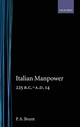 9780198142836: Italian Manpower 225 BC-AD 14
