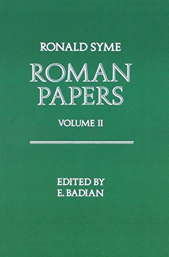 9780198143673: Roman Papers Volume 1 (v. 1 & 2)