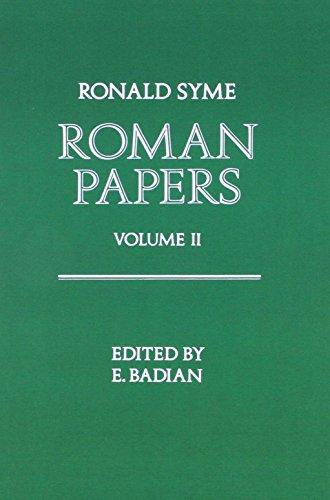 9780198143673: Roman Papers Volume 1