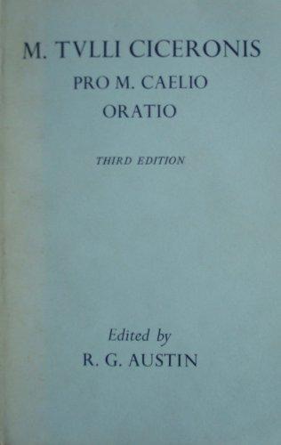 9780198144014: Pro Caelio Oratio