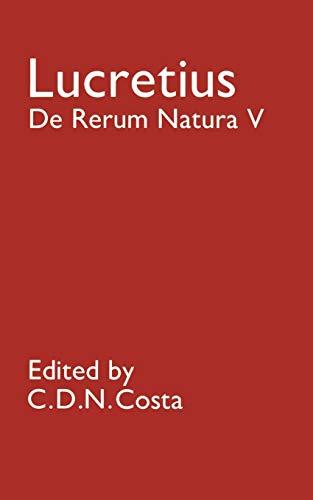 9780198144571: De Rerum Natura V