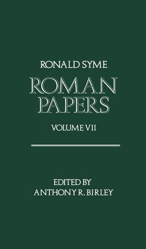 9780198144908: Roman Papers Volume VII