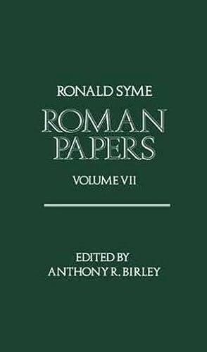 9780198144908: Roman Papers: Volume VII