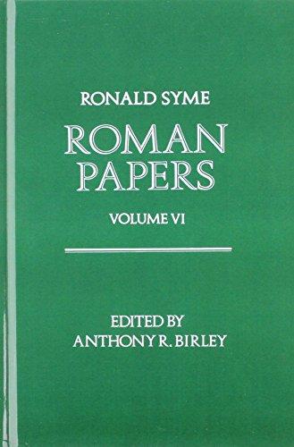 9780198144946: Roman Papers: Volume VI: v. 6