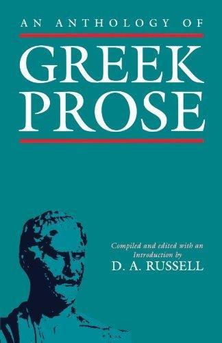 9780198144984: An Anthology of Greek Prose
