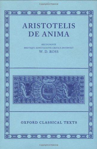 9780198145080: De Anima (Oxford Classical Texts)