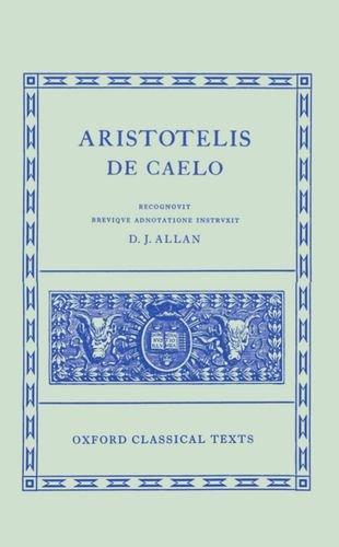 Aristotelis de Caelo. (Oxford Classical Texts): Aristotle