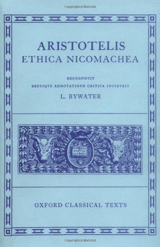 9780198145110: Ethica Nicomachea (Oxford Classical Texts)