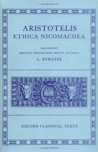 9780198145110: Aristotle Ethica Nicomachea (Oxford Classical Texts)