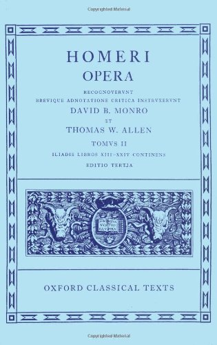 9780198145295: Homer Vol. II. Iliad (Books XIII-XXIV): Iliad v. 2 (Oxford Classical Texts)