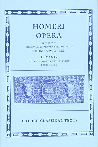 9780198145325: The Odyssey, Books 13-24 (Oxford Classical Texts: Homeri Opera, Vol. 4)