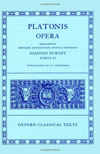 9780198145417: Opera: Volume II: Parmenides, Philebus, Symposium, Phaedrus, Alcibiades I and II, Hipparchus, Amatores (Oxford Classical Texts) (Ancient Greek Edition)