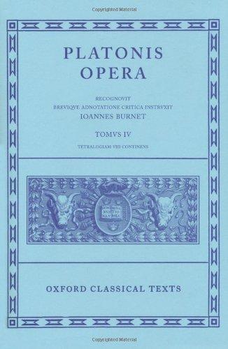 9780198145448: Plato Opera Vol. IV: (Clitopho, Respublica, Timaeus, Critias.): (Clitopho, Respublica, Timaeus, Critias) Vol 4 (Oxford Classical Texts)