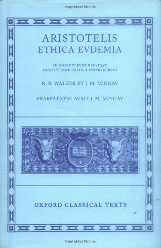 9780198145752: Ethica Eudemia (Oxford Classical Texts)