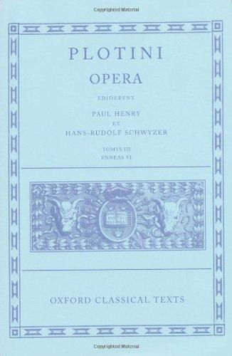 9780198145912: Plotinus III. Ennead VI: Enneades, 6 Vol 3 (Oxford Classical Texts)