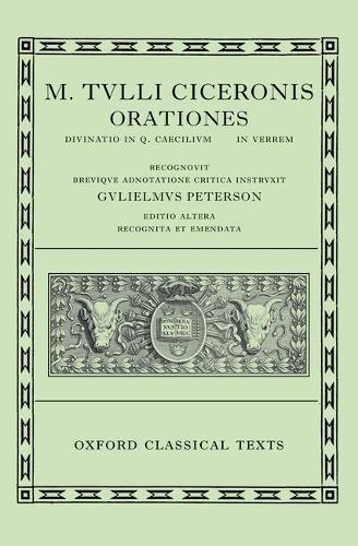 9780198146070: Cicero Orationes. Vol. III: (Verrinae): (Verrinae) Vol 3 (Oxford Classical Texts)