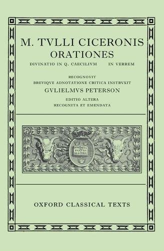9780198146070: Cicero Orationes. Vol. III: (Verrinae): (Verrinae) Vol 3 (Oxford Classical Texts)