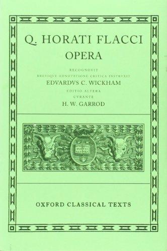 9780198146186: Horace Opera
