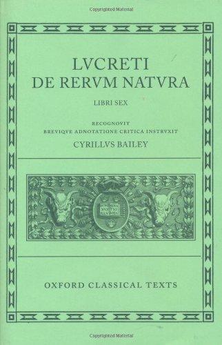 9780198146247: Lucretius De Rerum Natura: Bks.1-6 (Oxford Classical Texts)