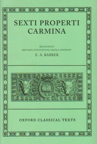9780198146308: Propertius Carmina (Oxford Classical Texts)