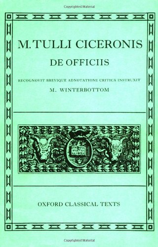 9780198146735: De Officiis (Oxford Classical Texts, Latin Edition)