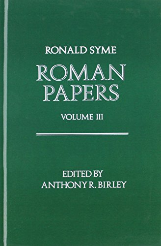9780198148395: 003: Roman Papers: Volume III