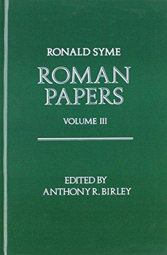 9780198148395: Roman Papers: Volume III