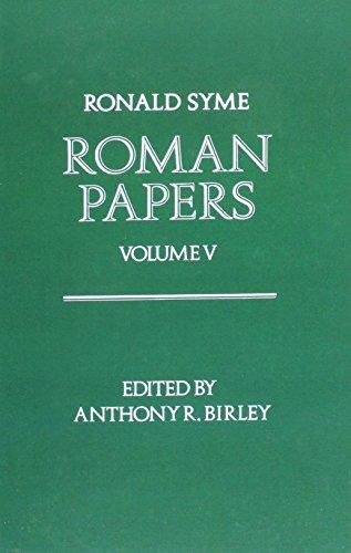 9780198148852: Roman Papers: Volume V