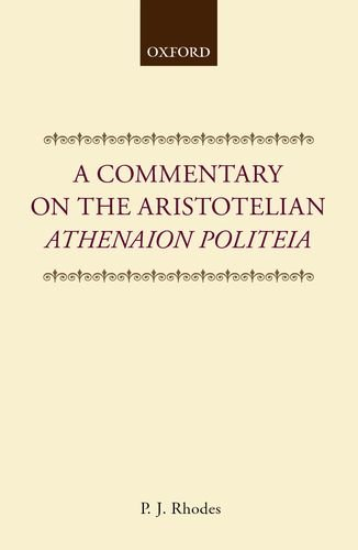 9780198149422: A Commentary on the Aristotelian Athenaion Politeia (Clarendon Paperbacks)
