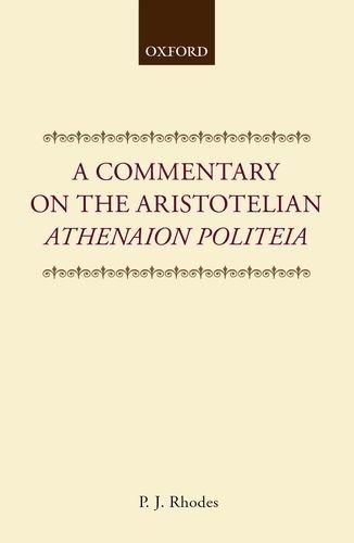 9780198149422: A Commentary On The Aristotelian Athenaion Politeia (Clarendon Paperbacks)