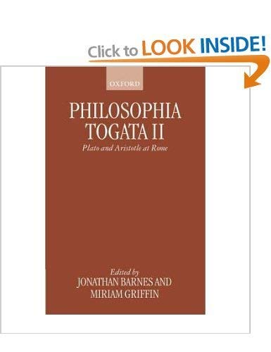 9780198150565: Philosophia Togata II: Plato and Aristotle at Rome (Vol 2)