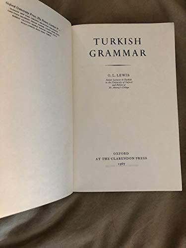 9780198153757: Turkish Grammar