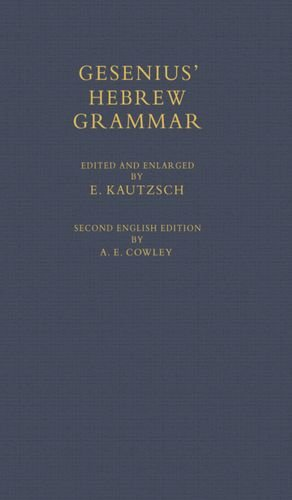 9780198154068: Gesenius' Hebrew Grammar