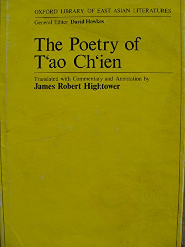 9780198154402: Poetry of Tao Chien (Oxford Library of East Asian Literature)