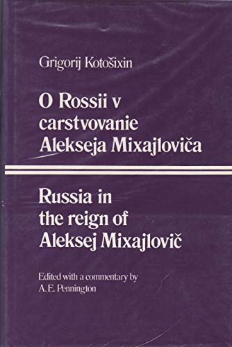 9780198156390: Russia in the Reign of Aleksej Mixajlovic