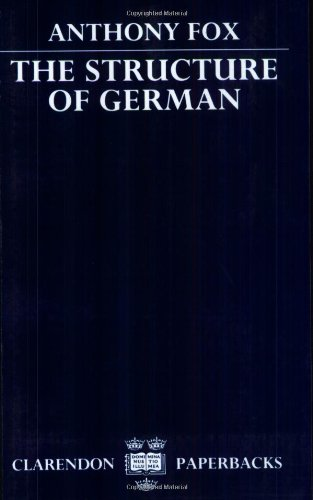 9780198158219: The Structure of German (Clarendon Paperbacks)