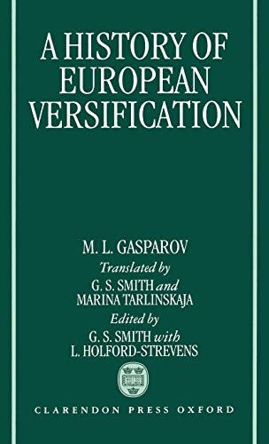 9780198158790: A History of European Versification