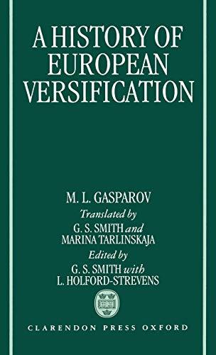 9780198158790: A History of European Versification