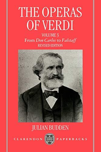 9780198162636: The Operas of Verdi, Vol. 3