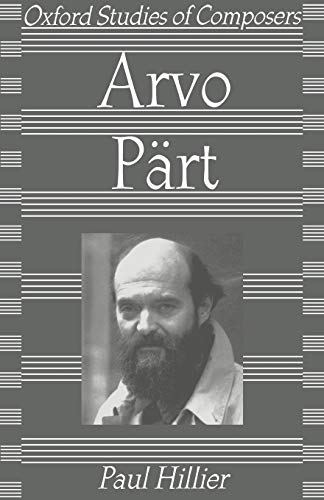 9780198166160: Arvo Pärt (Oxford Studies of Composers)