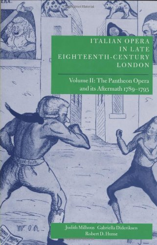 Italian Opera in Late Eighteenth-Century London: Volume 2: The Pantheon Opera and its Aftermath ...