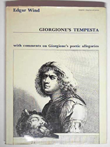 """9780198171652: Giorgiones """"Tempesta"""" with Comments on Giorgiones Poetic Allegories"""