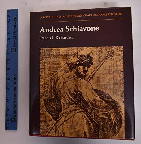 9780198173328: Andrea Schiavone (Studies in History of Art & Architecture)