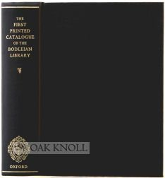 9780198173885: The First Printed Catalogue of the Bodleian Library 1605