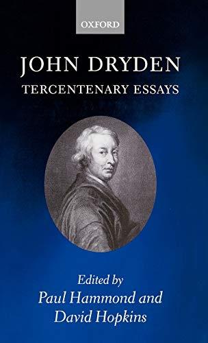 9780198186441: John Dryden: Tercentenary Essays